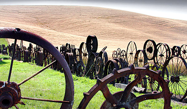 Palouse agricultural image, Idaho and Washington