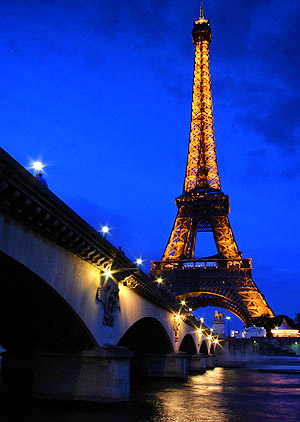 Eiffel tower and the Seine River, Paris, France