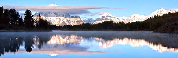 Photo tour image of Oxbow Bend in autumn with snow